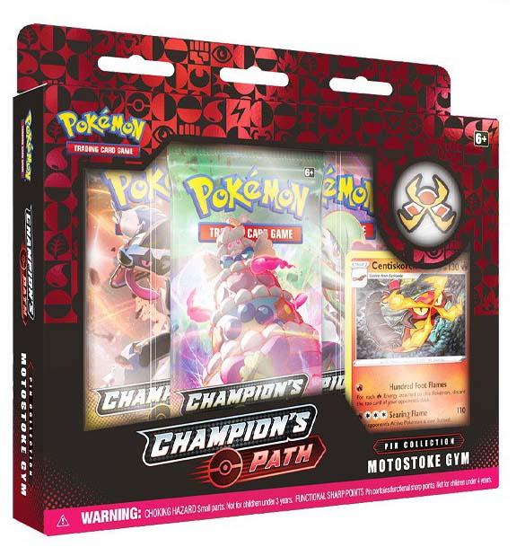Champion's Path Pin Box Motostoke Gym legion cards