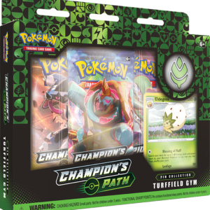 Champion's Path Pin Box Turffield Gym legion cards
