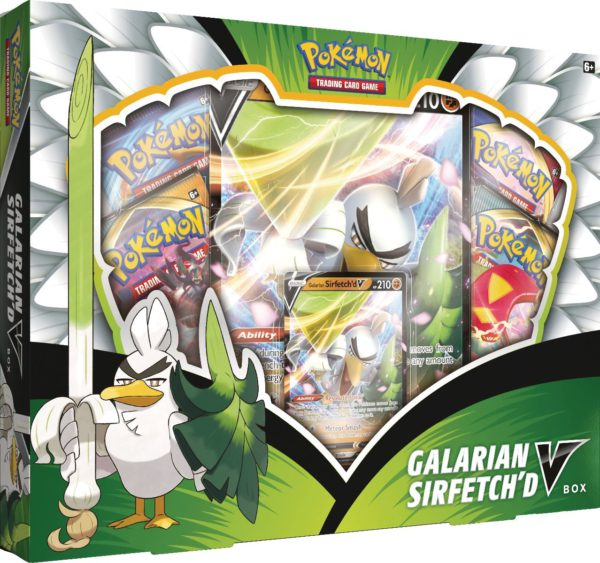 Pokemon Galarian Sirfetch'd V Box legion cards