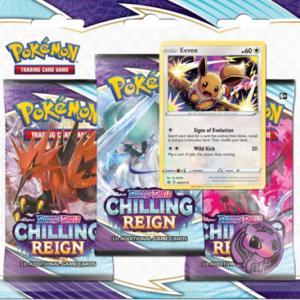 pokemon SS6 Chilling Reign 3-Booster Blister Eevee